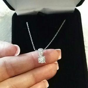 Auth Kays Jewelers Diamond Necklace in 14ktWG
